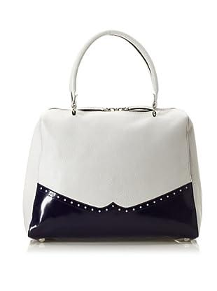 MARNI Women's Spectator Detail Bag, Moon/Dark Blue