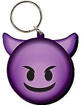 Aquarius Emoji Devil Laser Diecut Keychain