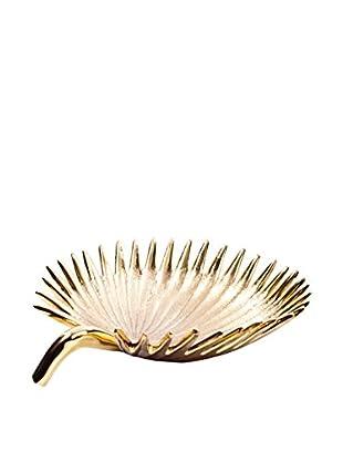 Rojo 16 Brass Date Palm Leaf Bowl, Brass