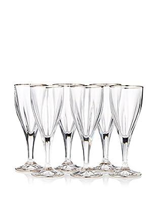 A Casa K Victoria Set of 6 Crystal & Platinum 7.5-Oz. Wine Goblets
