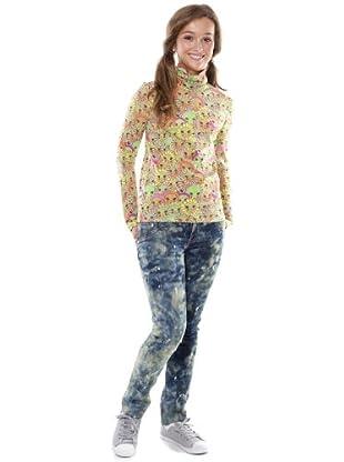 Custo Camiseta Blondy Flowers (Verde)