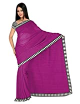 Vibes Women's Kashmiri Cotton Saree with Blouse (S50-2_Maroon)