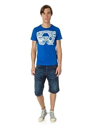 JACK & JONES Camiseta Stair slim fit (Azul)