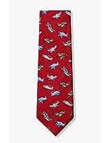 Men's 100% Silk WWII Fighter Planes Tie Necktie Neckwear