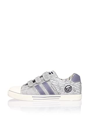 Pablosky Kid's City 3-Strap Sneaker (Washed Grey)