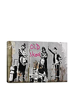 Banksy Old Skool Gallery Wrapped Canvas Print