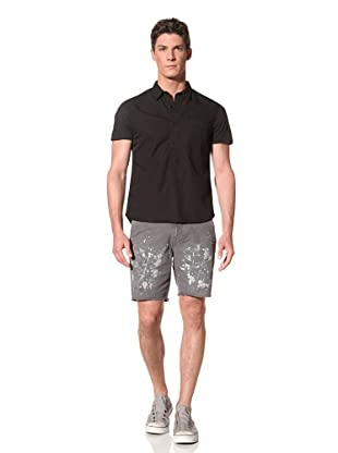 Edun Men's Mixed Media Polo (Black)