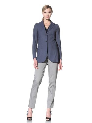 Luciano Barbera Women's Two-Button Wool Jacket (Light Blue)