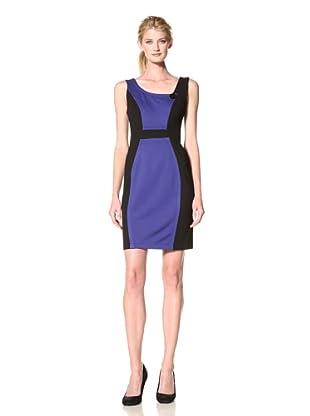 Yoana Baraschi Women's Michelle Colorblock Dress (Black/Blue)