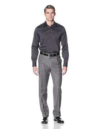 Hart Schaffner Marx Men's Glen Plaid Trouser (Grey)