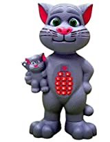 Sunshine Talk Back Mimicry Tom Cat With Baby, Touch Functions, Interactive Toy With Mobile Type Pad, Toy For Kids