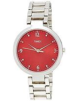 Timex Fashion Analog Red Dial Women's Watch - TW000X203