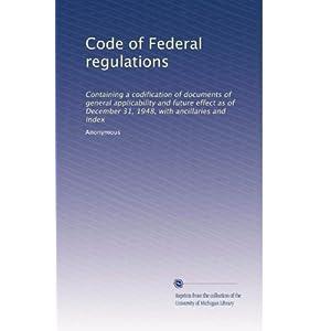 【クリックでお店のこの商品のページへ】Code of Federal regulations (Vol.6192) [ペーパーバック]
