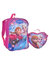 "Disney Frozen ""Snow Flight"" Backpack with Lunchbox - purple/multi, one size"