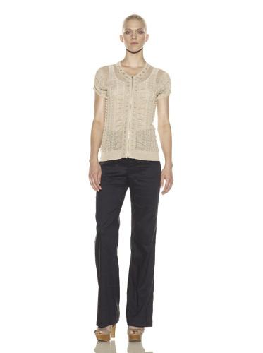 Rachel Roy Women's Zip Front Cardigan (Khaki)