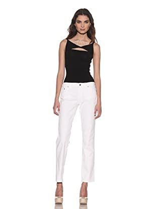RED Valentino Women's Ankle-Cut Jeans (White)