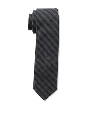 Gitman Men's Stripe Tie, Charcoal