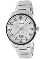 Citizen Eco-Drive Analog White Dial Men's Watch - AW1274-63A