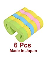 6 Pcs KM Japan Child Baby Toddler safety door pinch guard. Prevents finger injury due to slamming door.