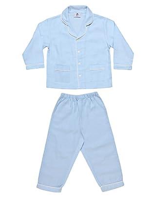 Allegrino Pigiama Flanella 100% Cotone Robert Boy (Azzurro)