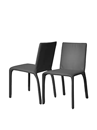 Star International Set of 2 Sandra Dining Chairs, Graphite
