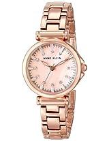 Anne Klein Womens AK/1622RMRG Swarovski Crystal Accented Rose Gold-Tone Bracelet Watch