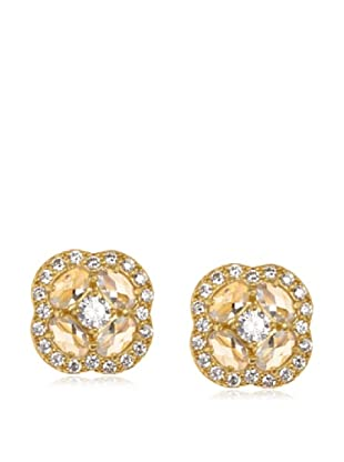 Belargo Golden Clover Stud Earrings