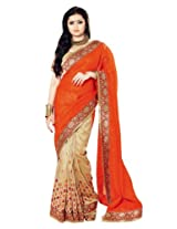 Aasri Women Bhagalpuri Silk Women Wedding Saree with Blouse Piece