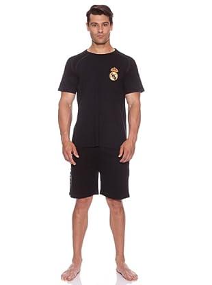 Licencias Pijama Corto Real Madrid (Negro)