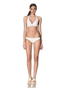 Anika Brazil Women's Sequin Halter Bikini Top & Bottom (Matisse Print)