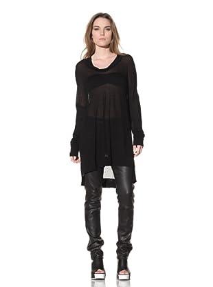 Ann Demeulemeester Women's Long Sleeve Tunic (Black)