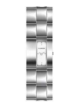 K&BROS 9162-2 / Reloj de Señora  con brazalete metálico plateado