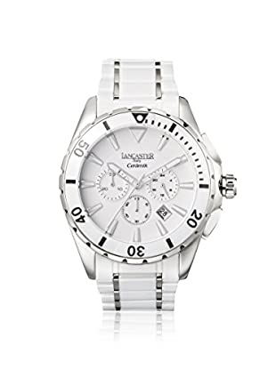 Lancaster Men's OLA0651MB/SS/BN New Ceramik Chrono Gent White Stainless Steel Watch