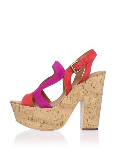 Ash Women's Hysteria Platform Sandal (Coral/Fuchsia)