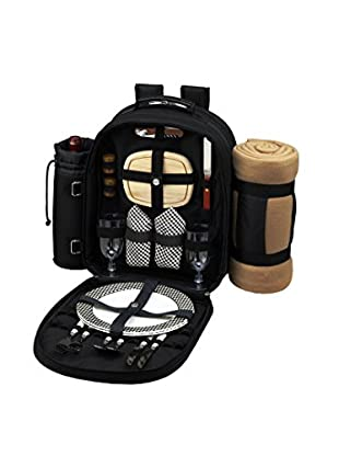 Picnic At Ascot Backpack For 2 with Blanket, Black