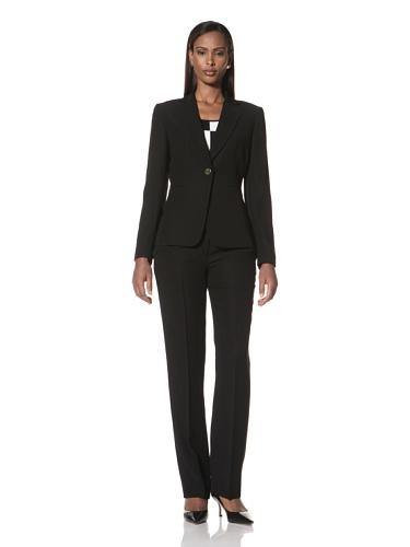 Tahari by A.S.L. Women's 3-Piece Pant Suit (Black)