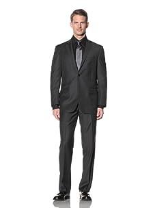 Yves Saint Laurent Men's Multistripe Suit (Charcoal/Ecru)