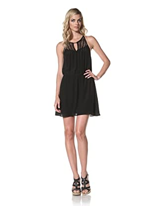 Central Park West Women's Bondi Beach Silk Dress (Black)