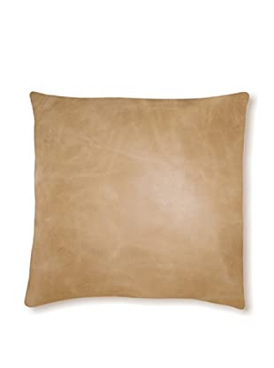 Natural Siena Leather Pillow (Tan)