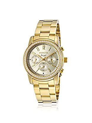 Invicta Women's 17020 Angel CZ Accented & 18K Gold Plated Stainless Steel Watch