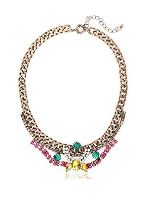 Sparkling Sage Chain & Crystal Statement Necklace