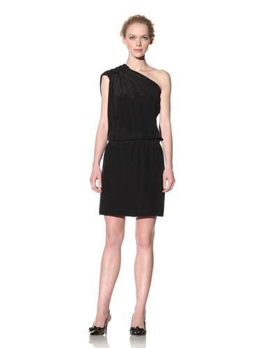 Philosophy di Alberta Ferretti Women's One-Shoulder Dress (Black)