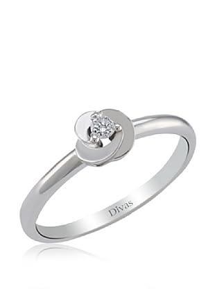 Divas Diamond Anillo Rose shaped Diamante