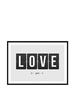 Póster Enmarcado Love Clock