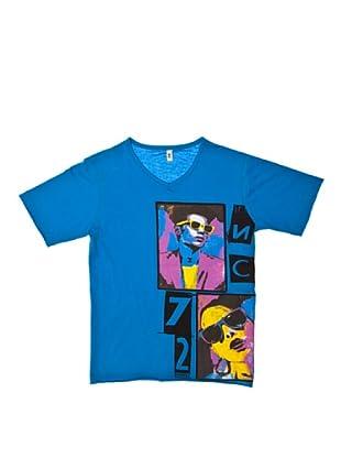 New Caro Camiseta Cuello Pico (Azul)