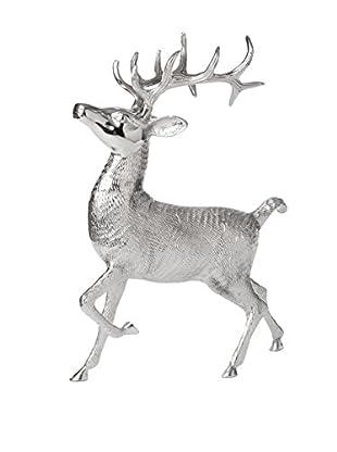 Napa Home & Garden Teton Lodge Standing Buck, Silver