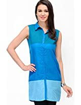 Blue Solid Shirt