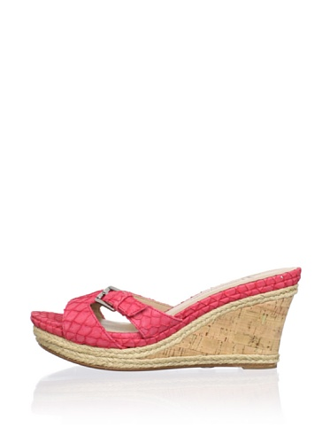 Lisa by Donald J Pliner Women's Wonnda Slide Wedge Sandal (Coral/Natural/Gold)