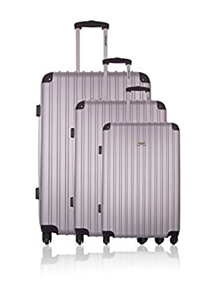 Travel ONE Set de 3 trolleys rígidos Aligara Plata