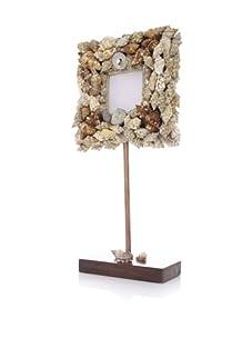 Seaside Cottage Pedestal Shell Frame (Brown)